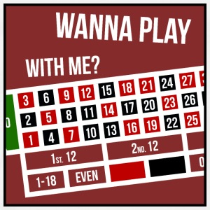 Wanna Play With Me? | Roulette - Männer Premium T-Shirt