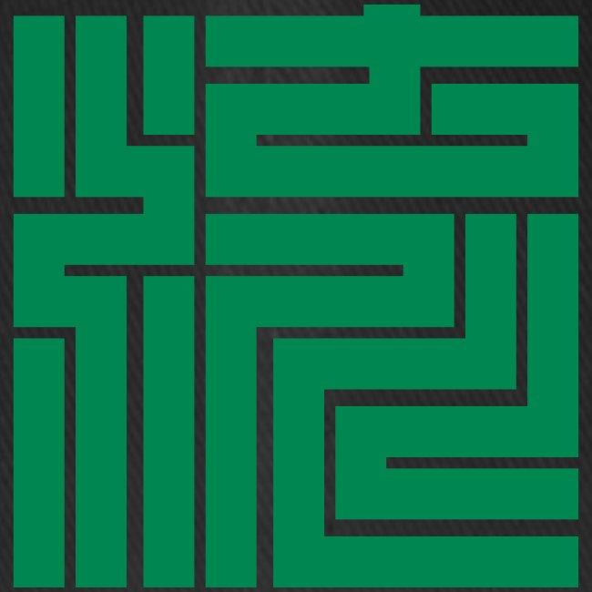 Nagare Daiko Blockschrift Basecap Flockdruck