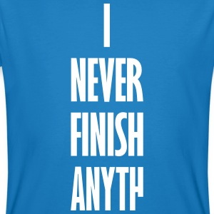 I_NEVER_FINISH_ANYTH T-shirts - Mannen Bio-T-shirt