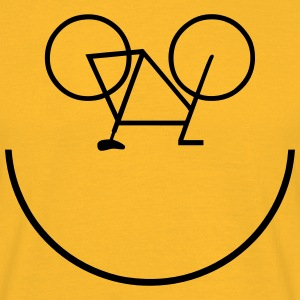 Bike Smiley T-shirts - Mannen T-shirt