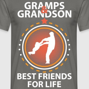 Gramps And Grandson Best Friends For Life T-Shirts - Men's T-Shirt