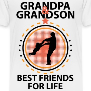 Grandpa And Grandson Best Friends For Life Shirts - Kids' Premium T-Shirt