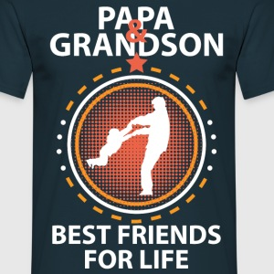 Papa And Grandson Best Friends For Life T-Shirts - Men's T-Shirt