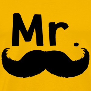 Mr moustache - T-shirt Premium Homme