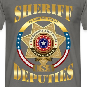 Sheriff - In God we trust. USA deputies - Men's T-Shirt