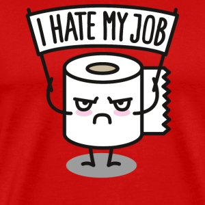 I hate my job - Toilet paper pixel T-Shirts - Men's Premium T-Shirt