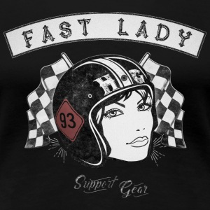 Fast Lady - Support Gear T-Shirts - Frauen Premium T-Shirt