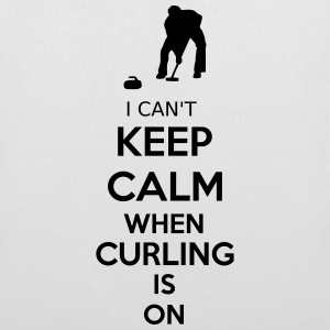I Can't Keep Calm When Curling Is On Taschen & Rucksäcke - Stoffbeutel
