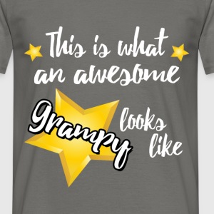 This is what an awesome Grampy looks like  - Men's T-Shirt