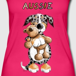 Aussie with Teddy Tops - Women's Organic Tank Top