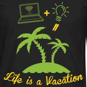 Life is like a holiday Long sleeve shirts - Men's Premium Longsleeve Shirt