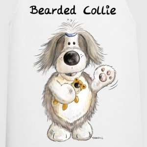Bearded Collie With Teddy  Aprons - Cooking Apron