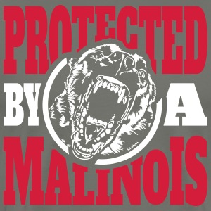 Protected by a MALINOIS - Belgian Malinois - Männer Premium T-Shirt