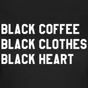 Black coffee black clothes black heart Tee shirts - T-shirt Femme