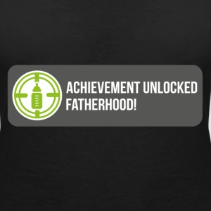 Achievement unlocked: fatherhood T-Shirts - Women's V-Neck T-Shirt