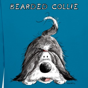Playing Bearded Collie Hoodies & Sweatshirts - Contrast Colour Hoodie