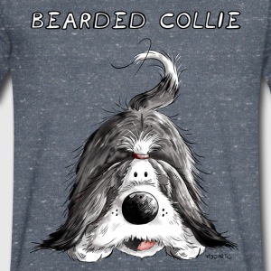 Playing Bearded Collie T-Shirts - Men's V-Neck T-Shirt