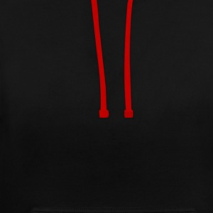 Black/red Satan Hoodies & Sweatshirts - Contrast Colour Hoodie
