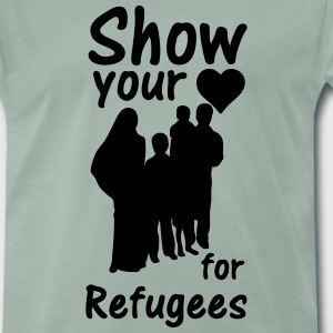 Heart for Refugees  T-Shirts - Männer Premium T-Shirt