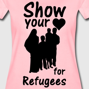 Heart for Refugees  T-Shirts - Women's Premium T-Shirt