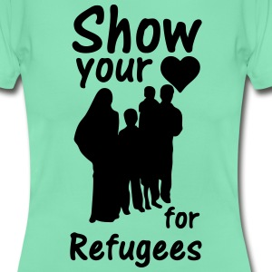 Heart for Refugees  T-Shirts - Women's T-Shirt