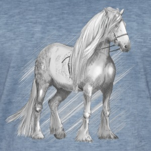 Cold-blood horse Tee shirts - T-shirt vintage Homme