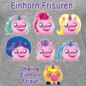 Einhorn Frisuren Tops - Frauen Premium Tank Top