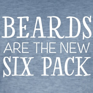 Beards Are The New Six Pack T-Shirts - Men's Vintage T-Shirt
