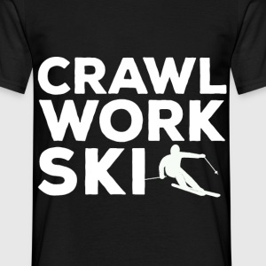 Crawl Work Ski - Männer T-Shirt
