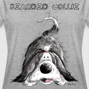 Playing Bearded Collie T-Shirts - Women's Oversize T-Shirt