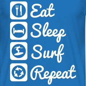 Eat,sleep,surf,repeat, surf,surfer t-shirt - T-shirt Homme