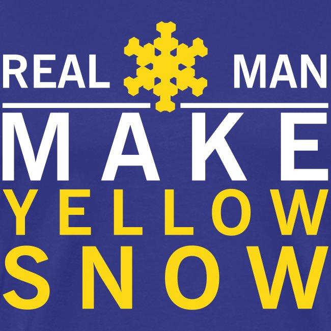 Grappig shirt Real man make yellow snow
