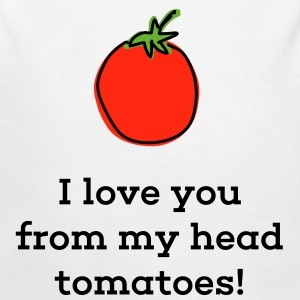 I love you from my head tomatoes - Longlseeve Baby Bodysuit