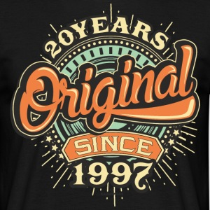 20 Years Original since 1997 - RAHMENLOS Birthday Shirt Design T-Shirts - Männer T-Shirt