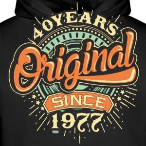 40 Years Original since 1977 - RAHMENLOS Birthday Shirt Design Pullover & Hoodies - Männer Premium Hoodie