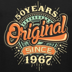 50 Years Original since 1967 - RAHMENLOS Birthday Shirt Design Sportbekleidung - Männer Premium Tank Top
