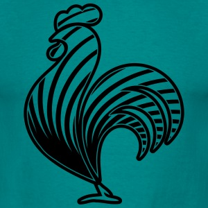 Rooster design pattern T-Shirts - Men's T-Shirt