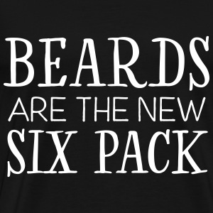 Beards Are The New Six Pack T-shirts - Mannen Premium T-shirt