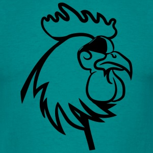 Rooster angry dangerous sunglasses T-Shirts - Men's T-Shirt