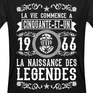 1966 - 51 ans - Légendes - 2017 Tee shirts - T-shirt bio Homme