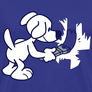 Painting Cartoon Dog by Cheerful Madness!! T-Shirts - Men's Premium T-Shirt
