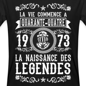 1973 - 44 ans - Légendes - 2017 Tee shirts - T-shirt bio Homme