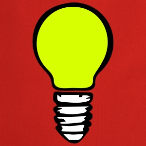 Light bulb (3 colors) Fartuchy - Fartuch kuchenny