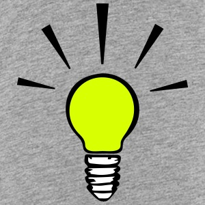 Light bulb - idea  (3 colors) Camisetas - Camiseta premium adolescente