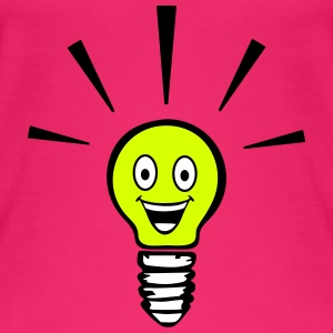 Light bulb with smiley - big idea Tops - Women's Organic Tank Top