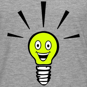 Light bulb with smiley - big idea Long sleeve shirts - Men's Premium Longsleeve Shirt