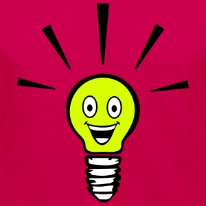 Light bulb with smiley - big idea Long Sleeve Shirts - Women's Premium Longsleeve Shirt