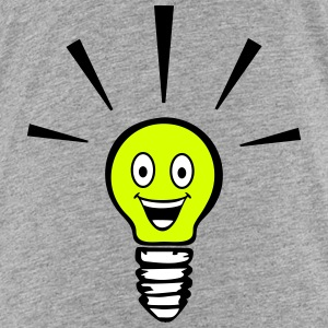Light bulb with smiley - big idea Camisetas - Camiseta premium adolescente