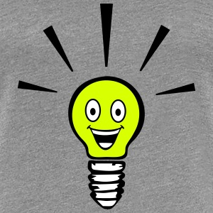 Light bulb with smiley - big idea Tee shirts - T-shirt Premium Femme