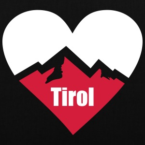 Tirol Alps Heart Bags & Backpacks - Tote Bag